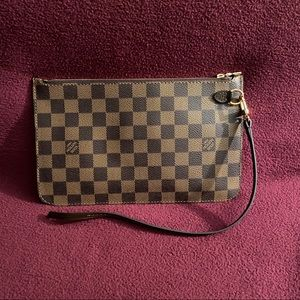 Louis Vuitton Neverfull MM Pochette Damier Ebene